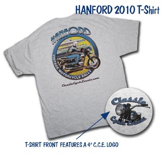 hanford 2010 vintage motorcycle rally t-shirt